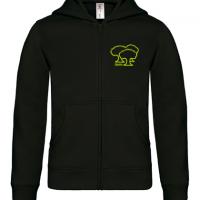 Ansicht-Jacke-in-Black-mit-hellgrünem-Logo